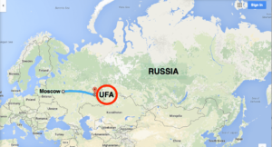 Map of Russia with Ufa